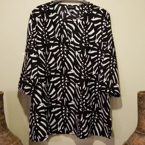 Ashley Stewart Linen Blend Tunic - size 22W